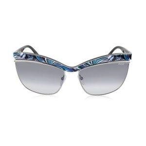 NWOT Emilio Pucci Fantasy Metal Cat Eye Sunglasses